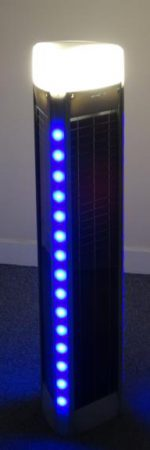 Bollard Solar LED Light Blue